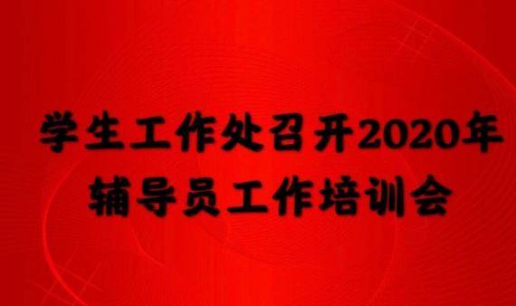 学生工作处召开2020年辅导员工作培训会